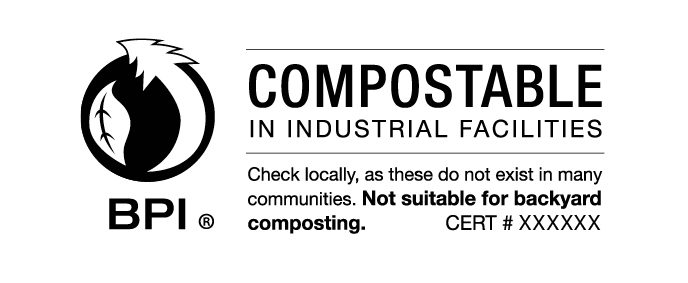 Industrially compostable BPI symbol