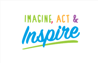 "Logo showing the text ""Imagine, Action, Inspire"""