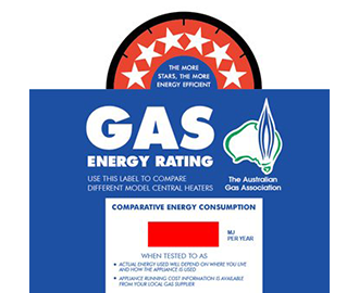 Gas Energy Rating Label