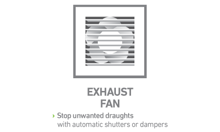 Stop unwanted draughts with automatic shutters or dampers.